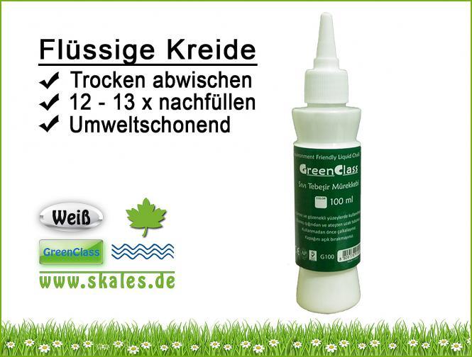 weiß - GreenClass Flüssigkreide Nachfüllflasche