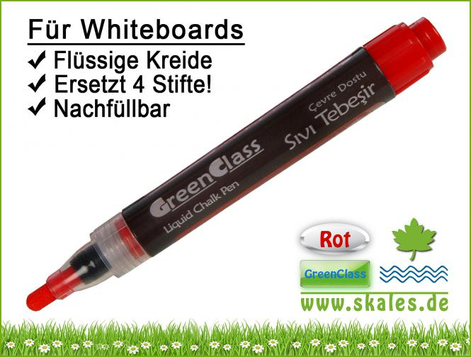 rot - GreenClass-Kreidemarker